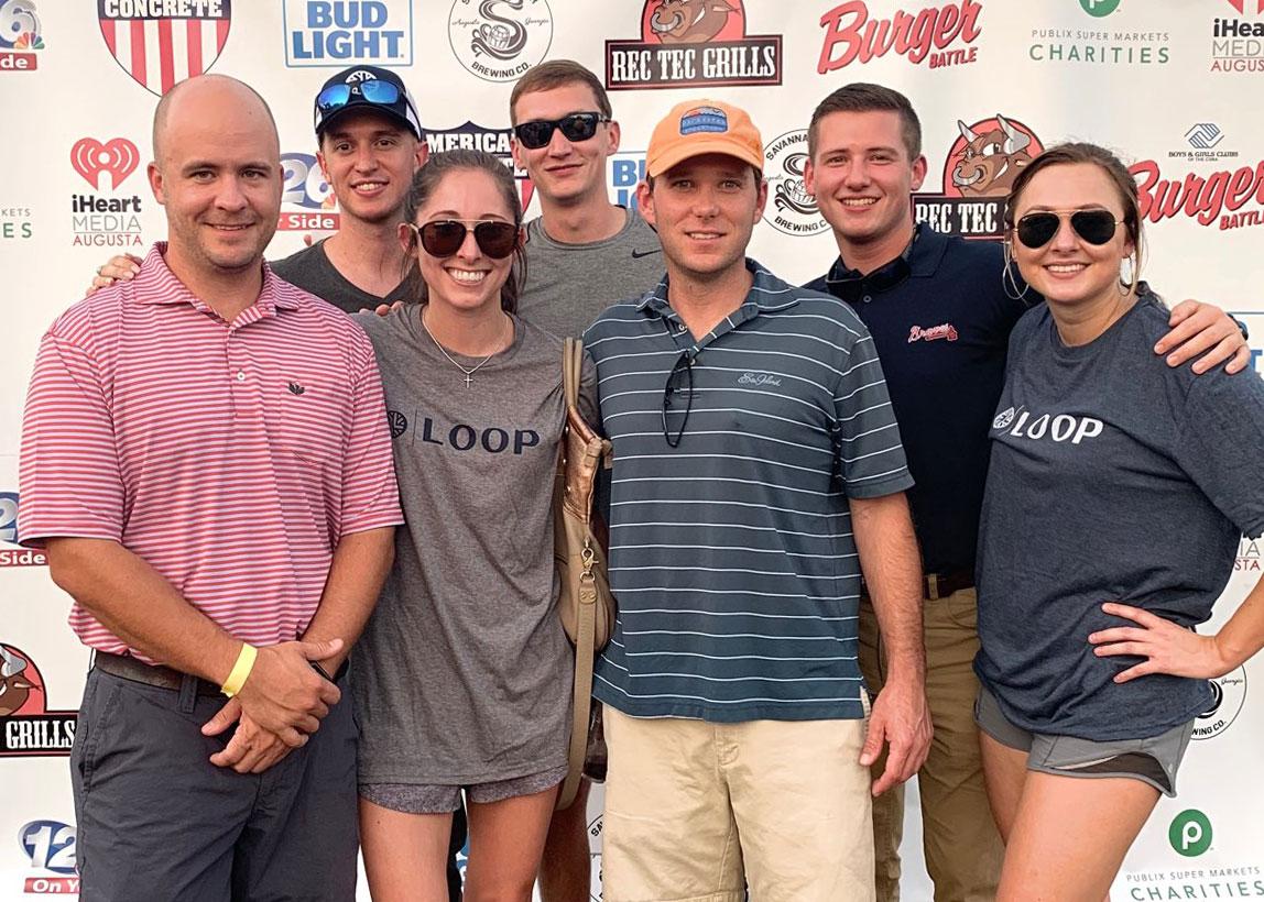 Loop Team at the Augusta Boys & Girls Clubs Burger Battle